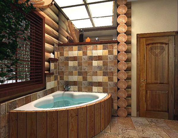 Дизайн ванной кантри