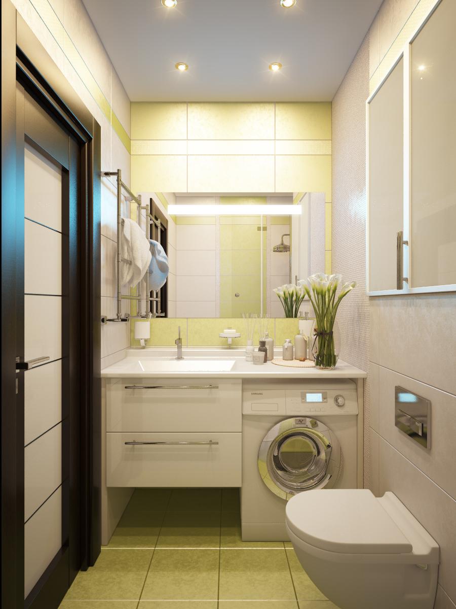 Фото дизайн интерьера совмещенного санузла в простых квартирах