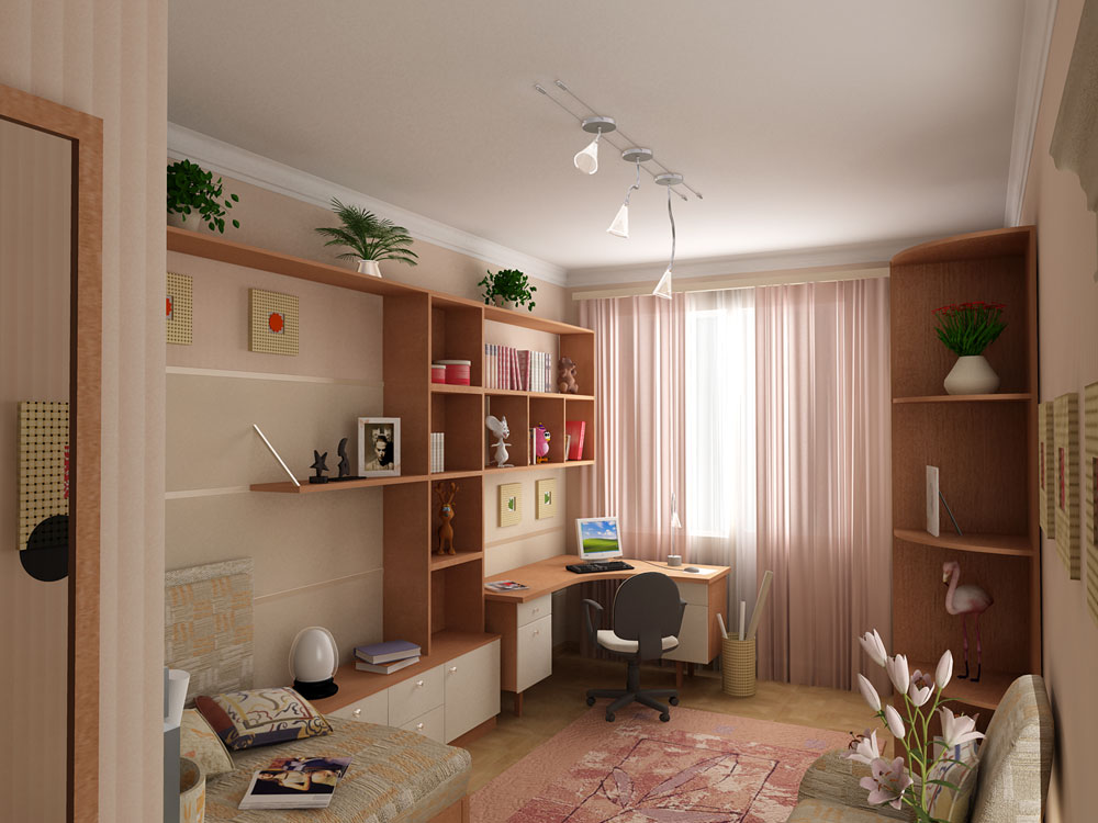 Интерьер комнаты подростка 12 кв.м