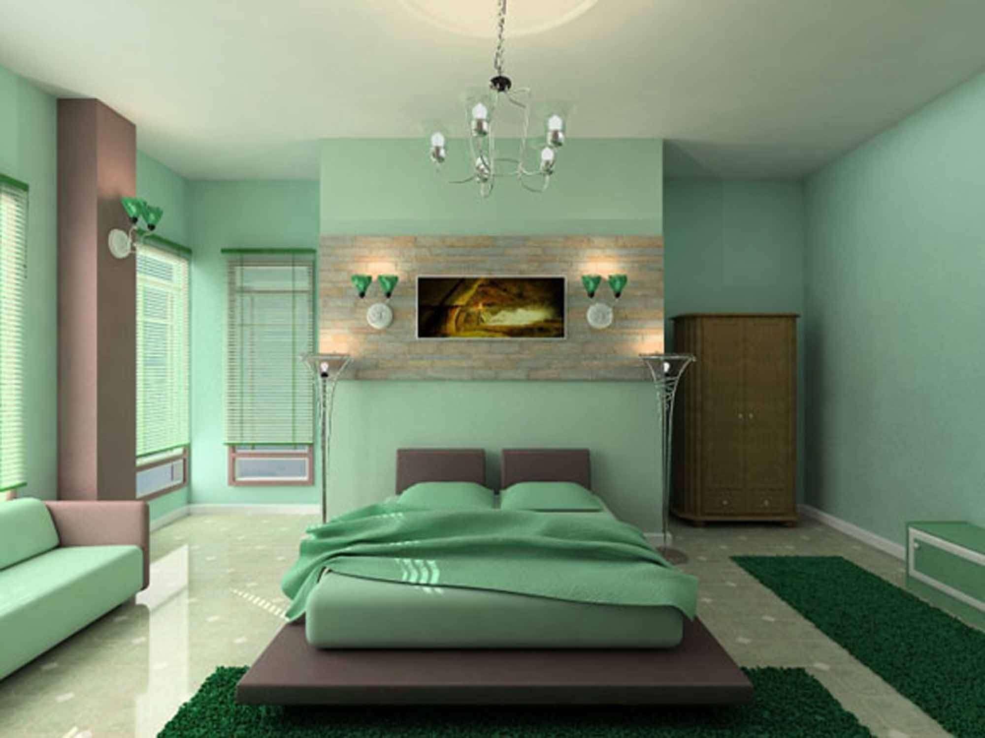 Дизайн спальни в зеленом цвете фото 2014 современные идеи