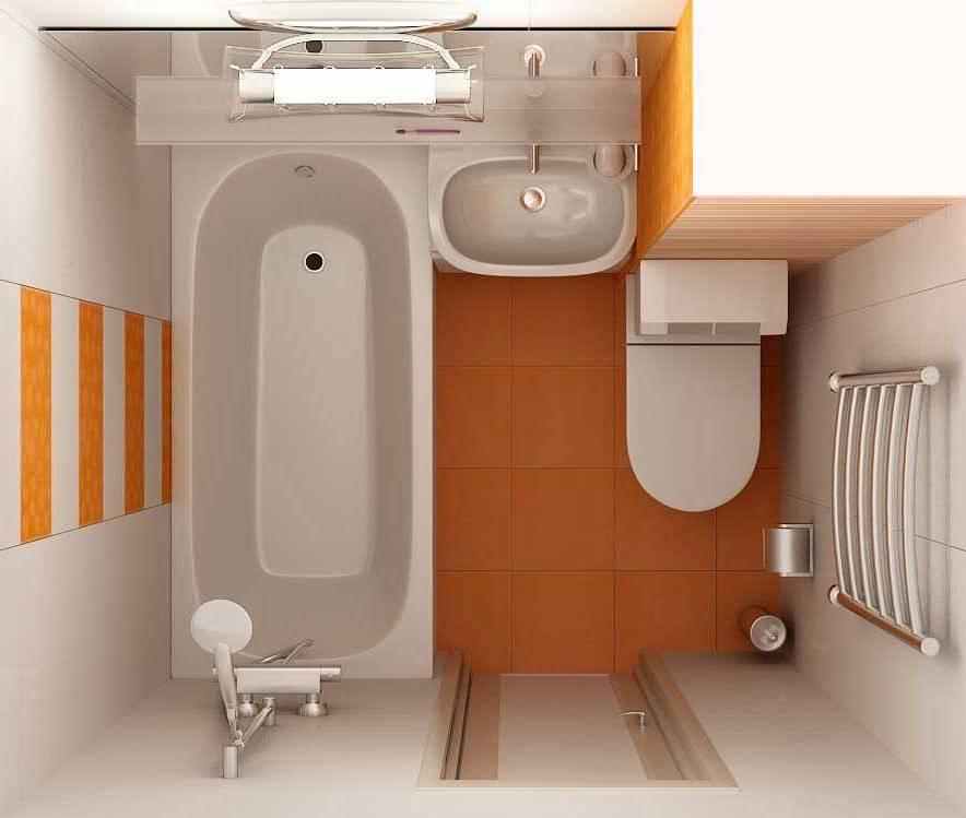 Дизайн ванной и туалета 4 кв.м фото