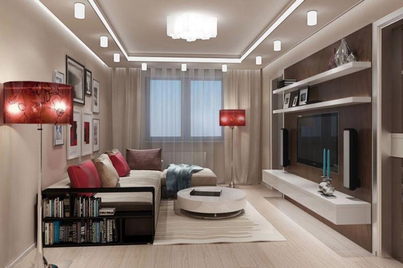 Дизайн зала 18 квадратов дизайн