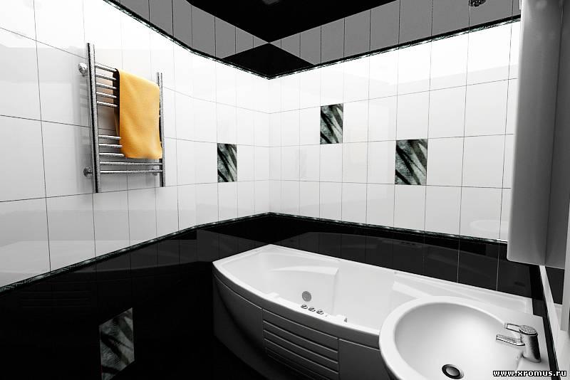 Ванные комнаты черно белые дизайн