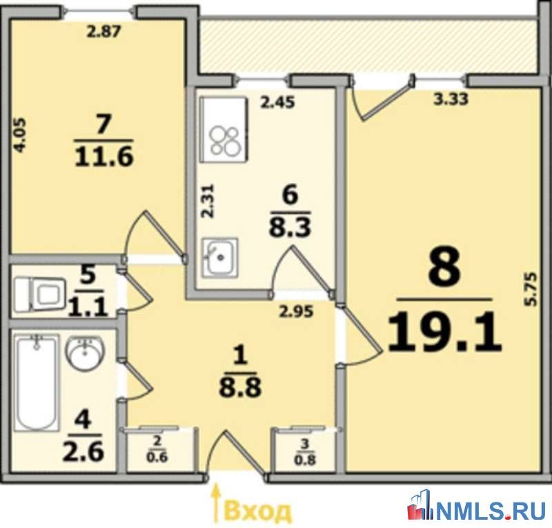 """Планировка 2 комнатных квартир харьков """" современный дизайн."""