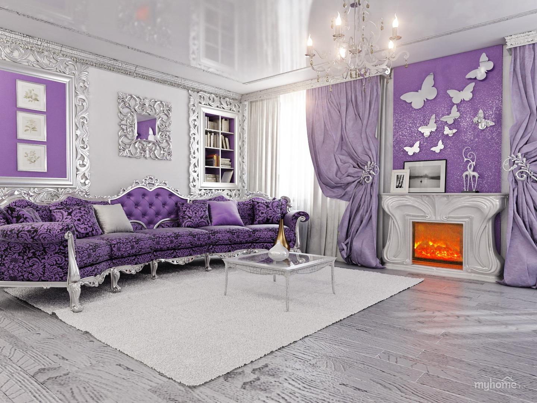 Сиреневая фиолетовая дизайн