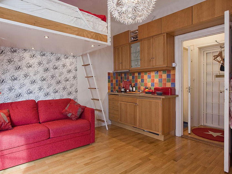 Дизайны однокомнатных маленьких квартир