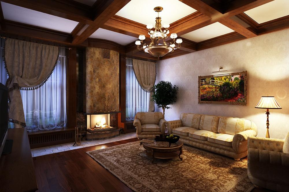 Интерьер гостиной в частном маленьком доме фото