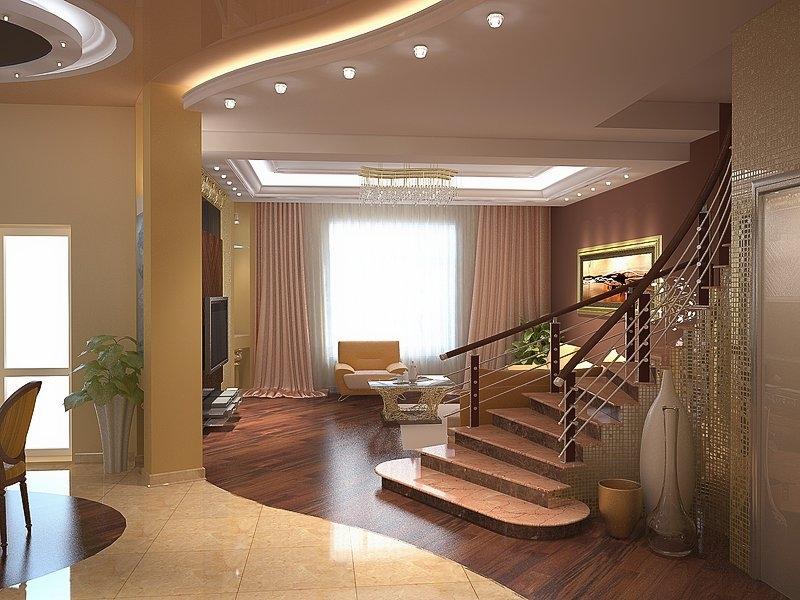 Дизайн частных домов изнутри