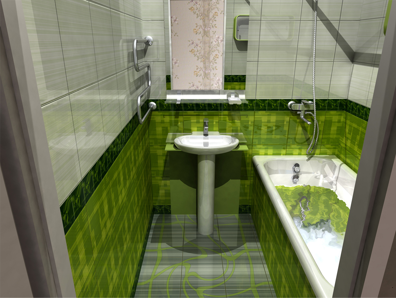 Дизайн маленькая ванной комнаты