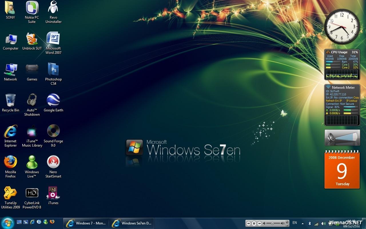 Темы для Windows 7 - оформление Windows 7