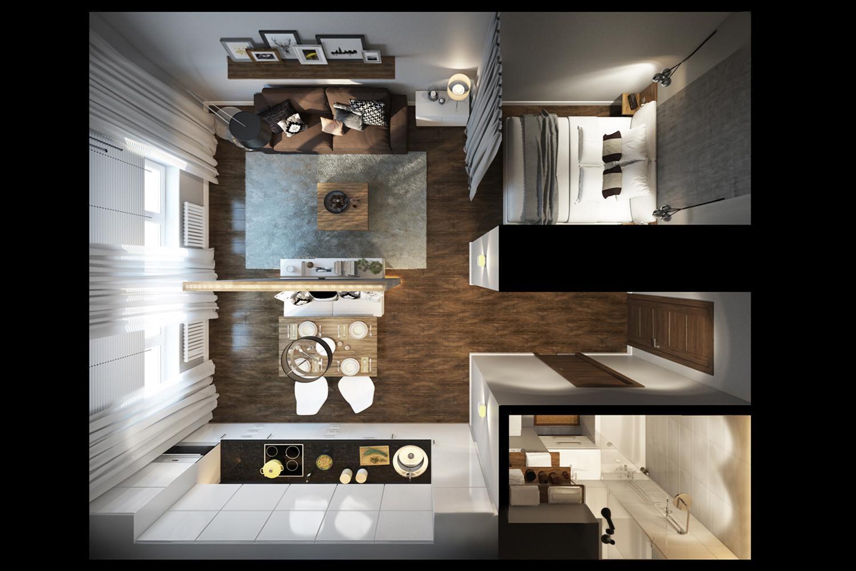 Дизайн проект 33 кв.м