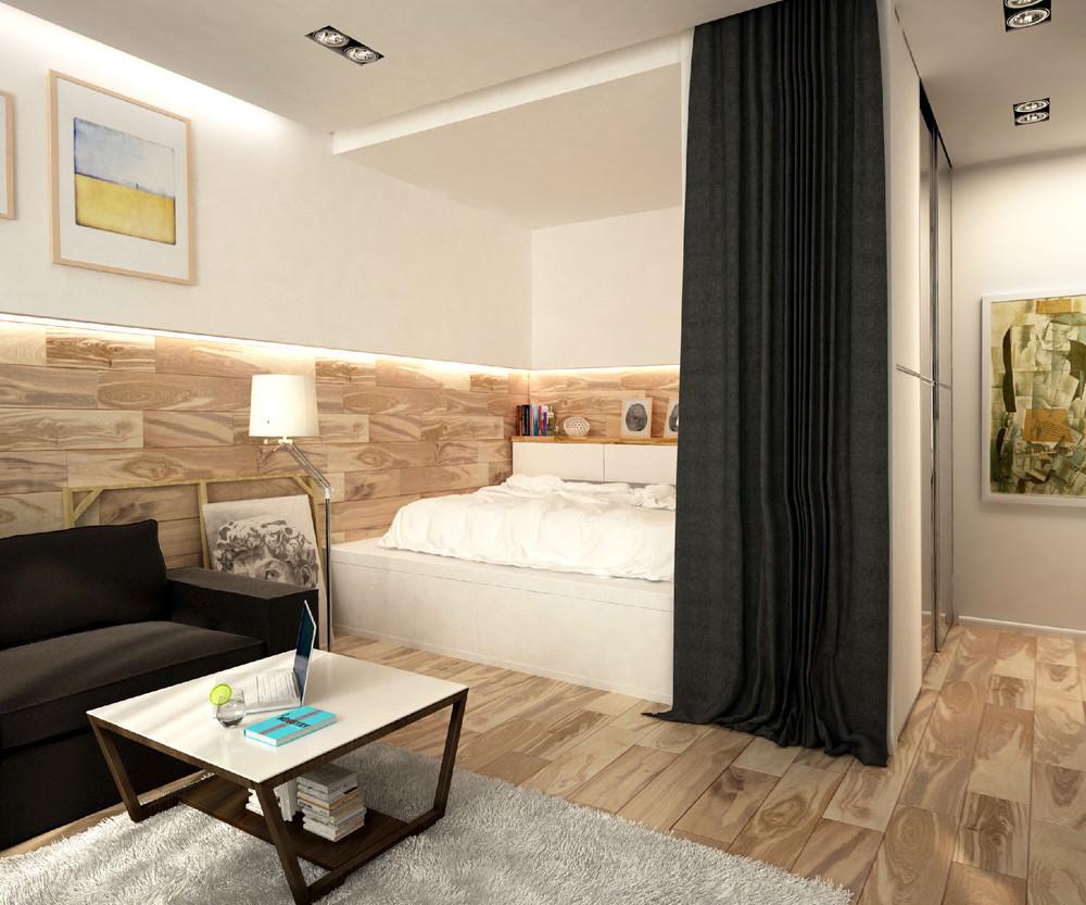 Дизайн 1 однокомнатной квартиры