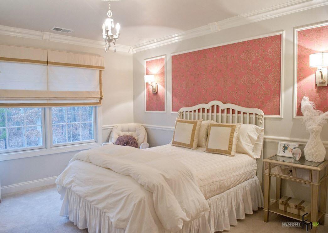 Интерьер с молдингами фото спальни
