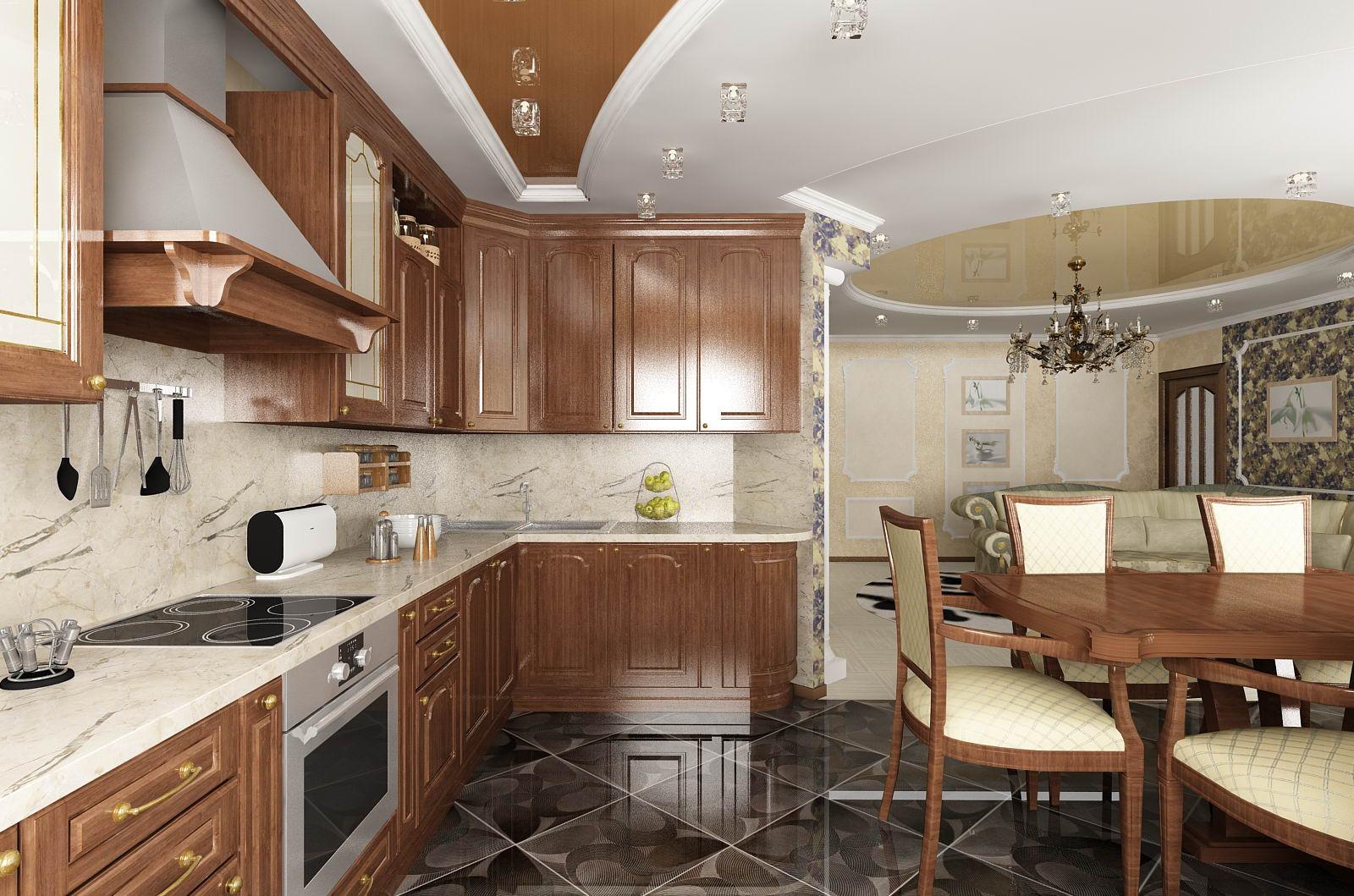 Дизайн кухни столовой интерьера