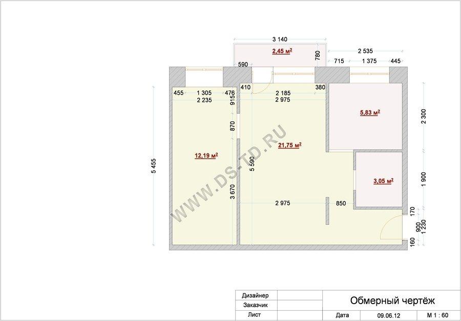 """Пример дизайна 2-х комнатной квартиры """" современный дизайн."""