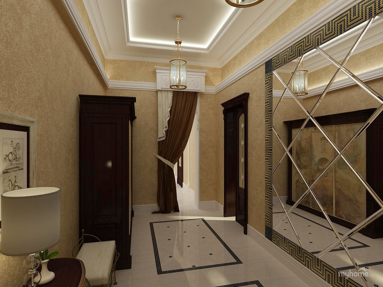 Дизайн прихожей холл