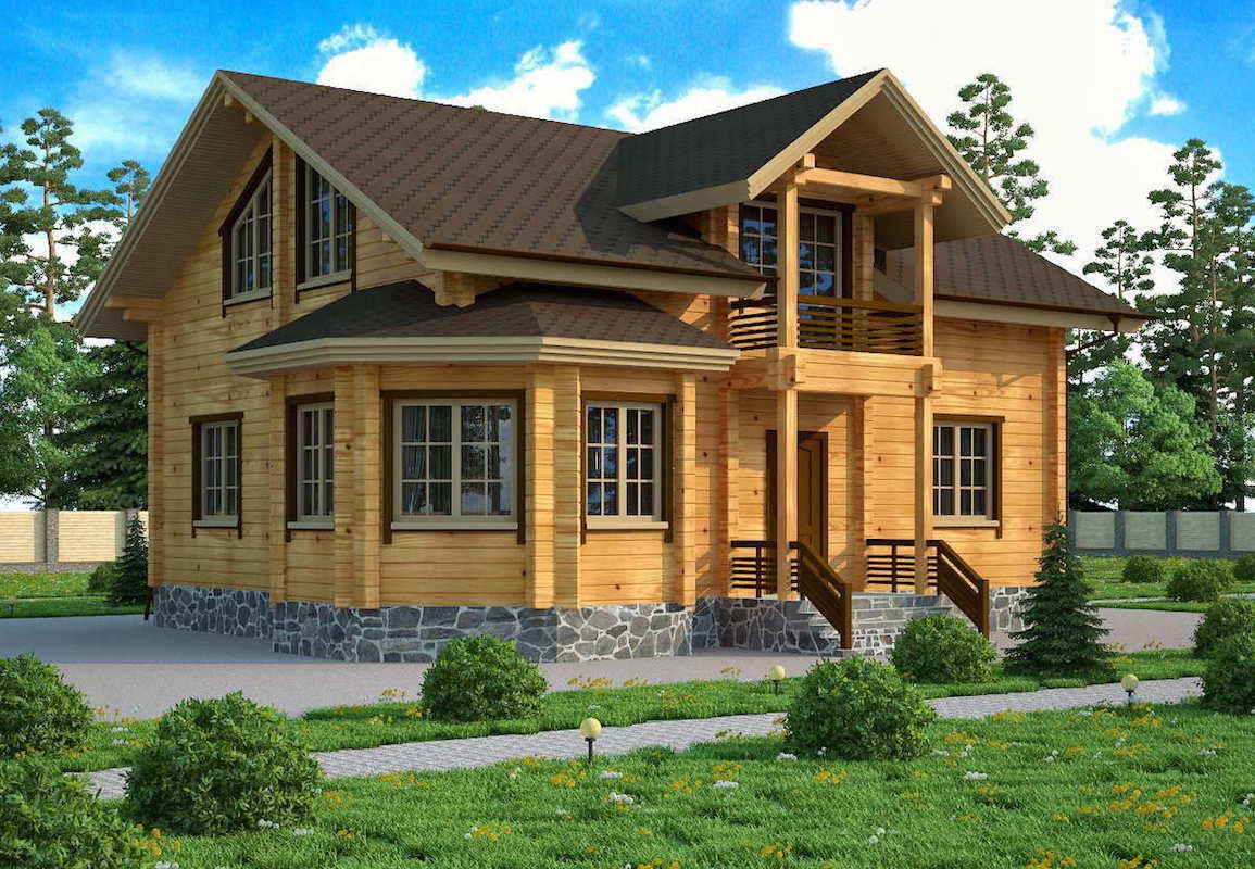 Проекты одноэтажных деревянных домов из клееного бруса