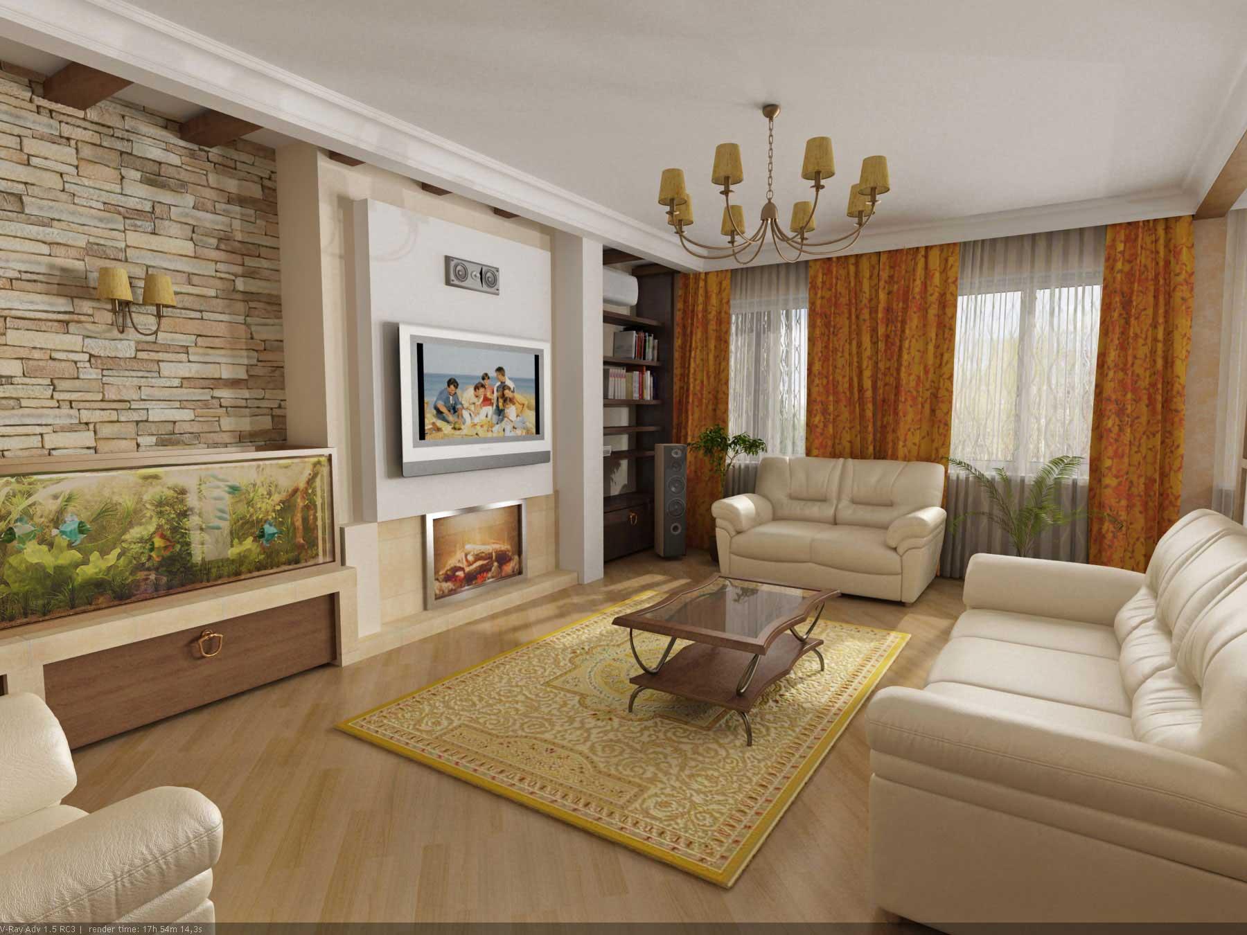 Дизайны комнат зал