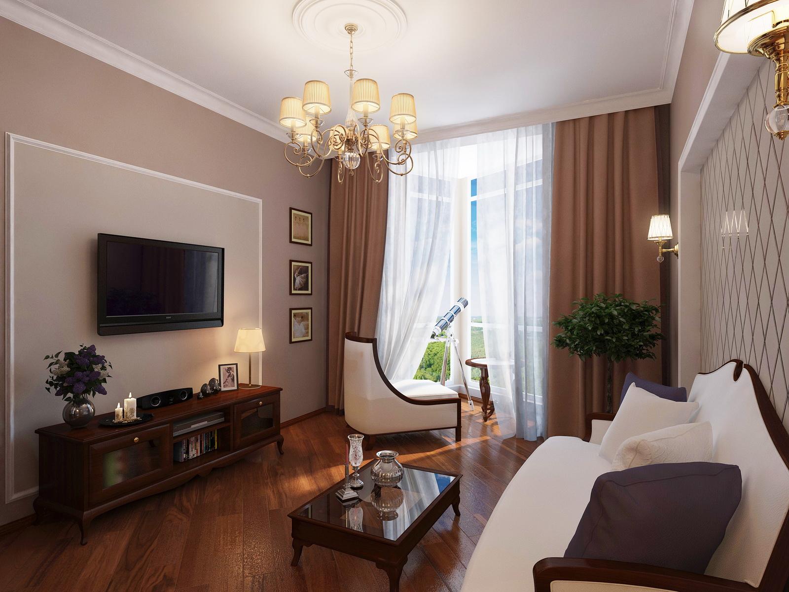 Фото дизайна гостиной в двухкомнатной квартире