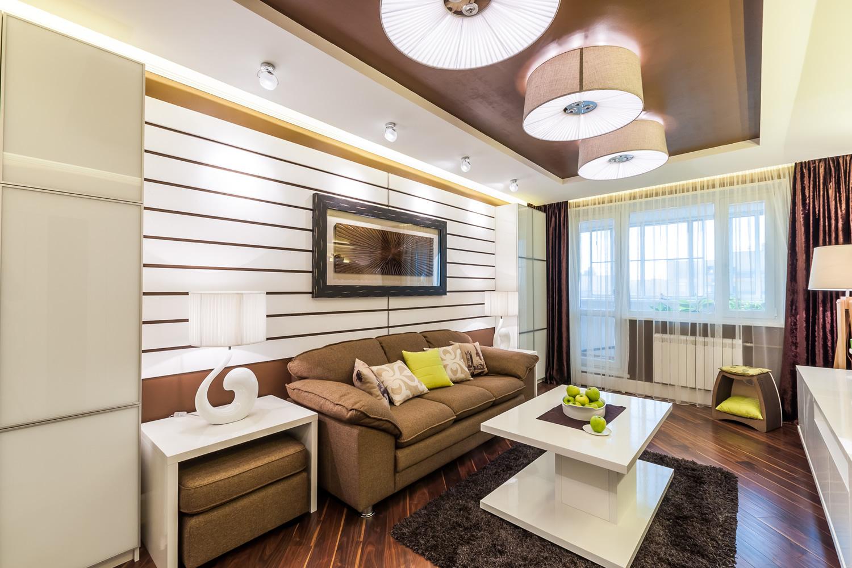 Дизайн гостиной-спальни 14 кв м