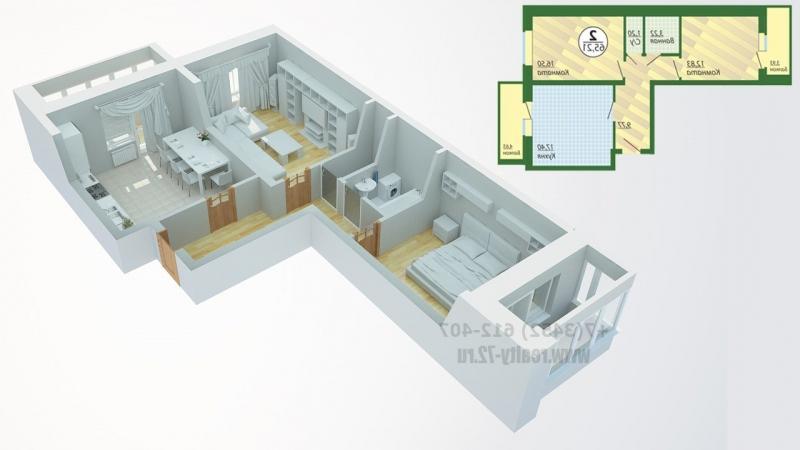 Дизайн 2 х комнатной квартиры распашонки