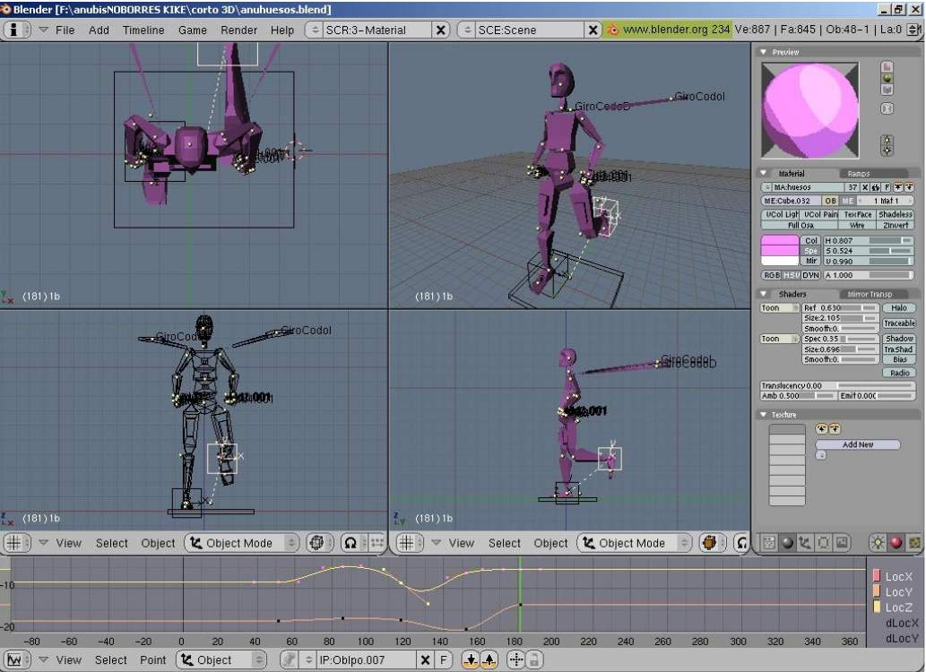 animate 3d models online free