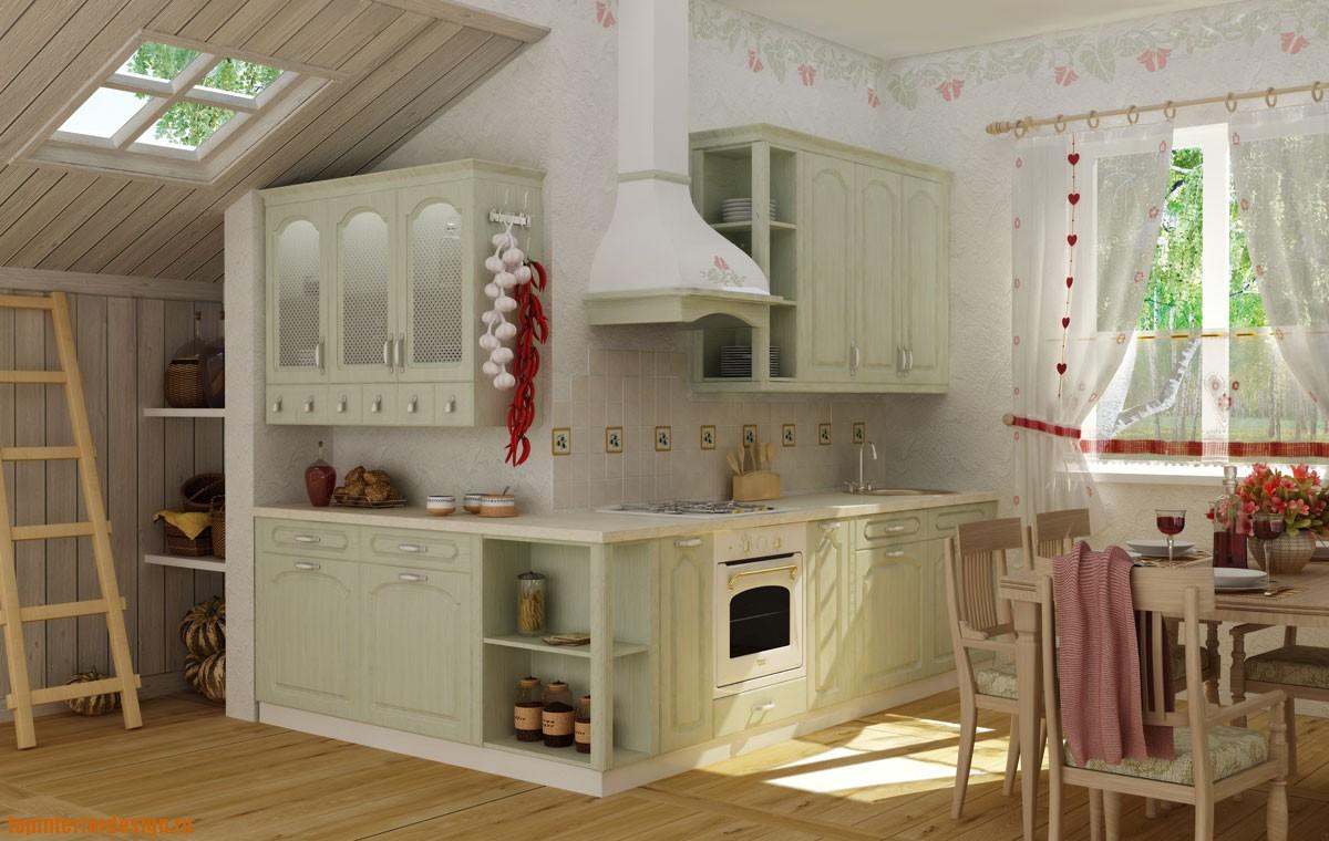 Кухня интерьер дизайн прованс интерьер