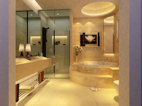 Дизайн ванной комнаты с большой душевой кабиной