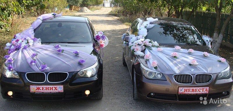 Украшение машин к свадьбе фото