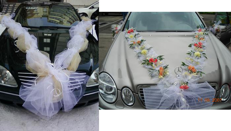 Как делать украшения на машину на свадьбу своими руками 43