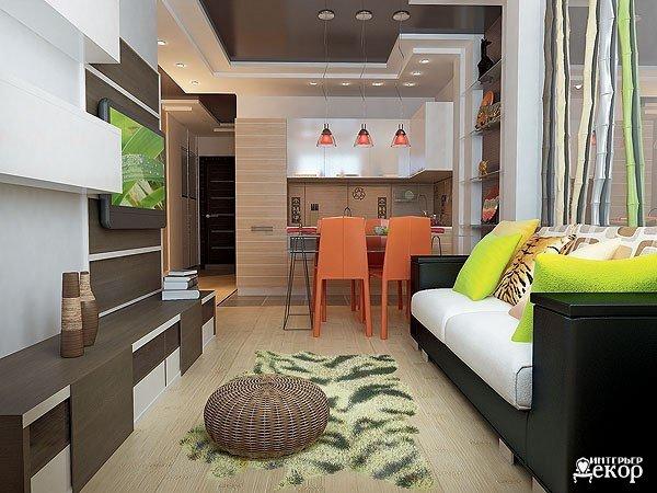 Дизайн проект квартиры студии 19 кв.м