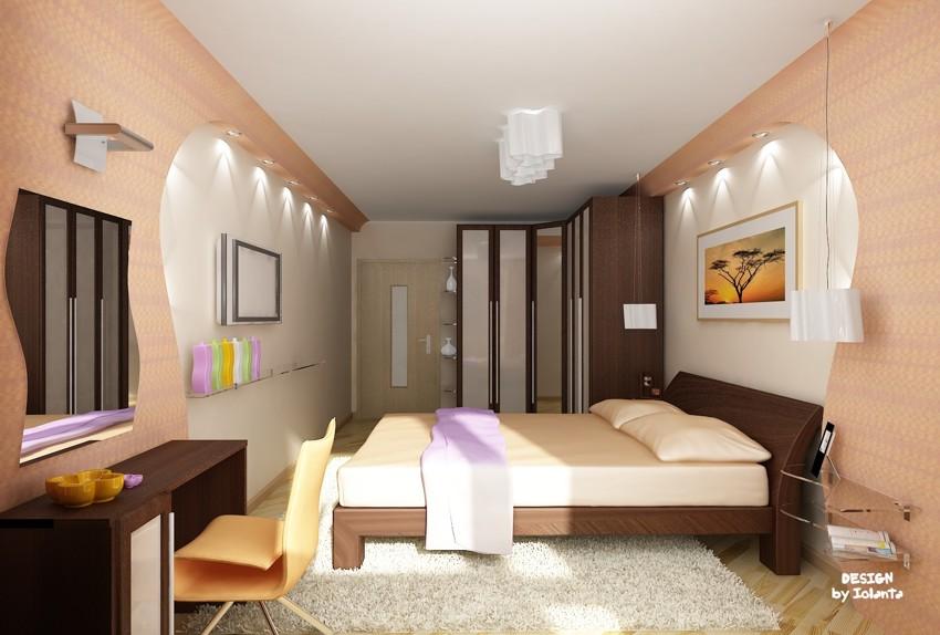 """Дизайн спальни 15 кв.м фото """" современный дизайн."""