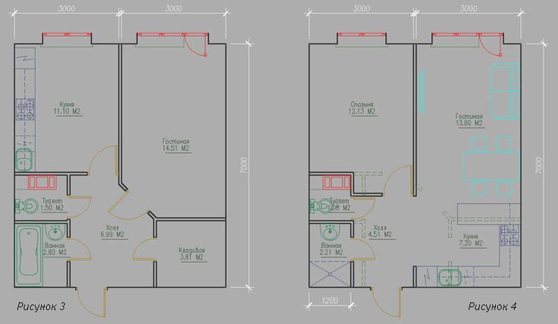 """Проекты перепланировки 1 комнатной квартиры """" современный ди."""