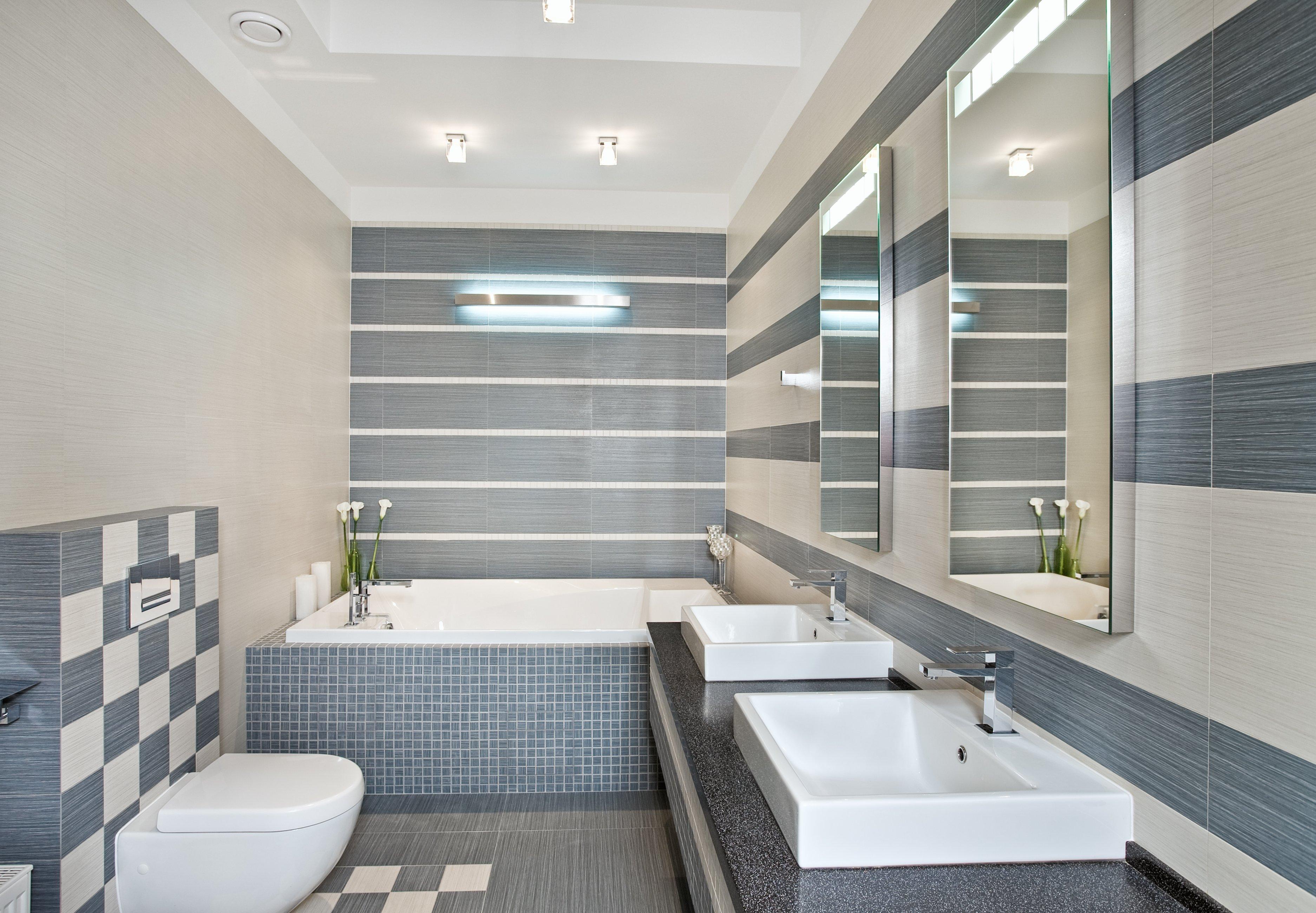 Дизайн ванной комнаты из панелей 2017-2018 современные