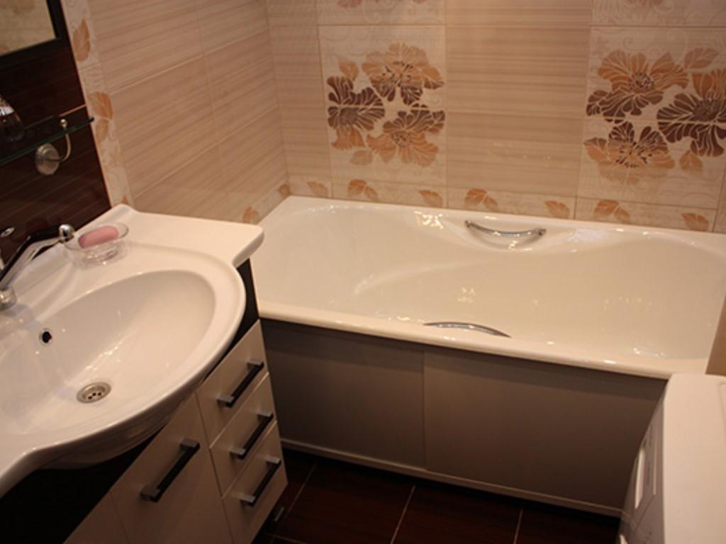 Фото дизайн ванной в панельном доме
