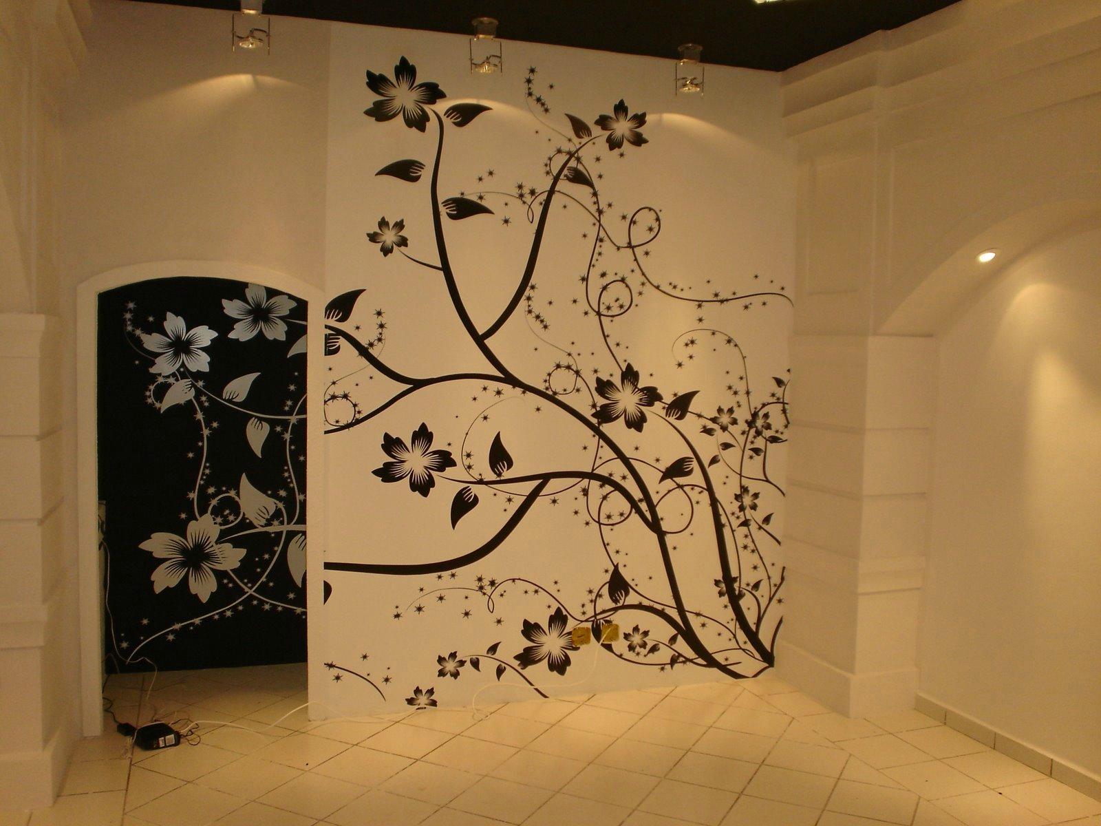 Трафареты и рисунки на стене своими руками