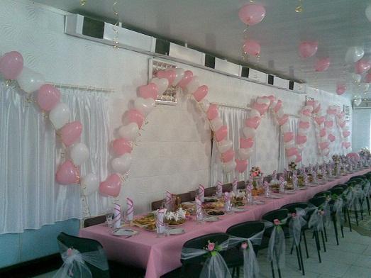 Украшение зала на свадьбу своими рука