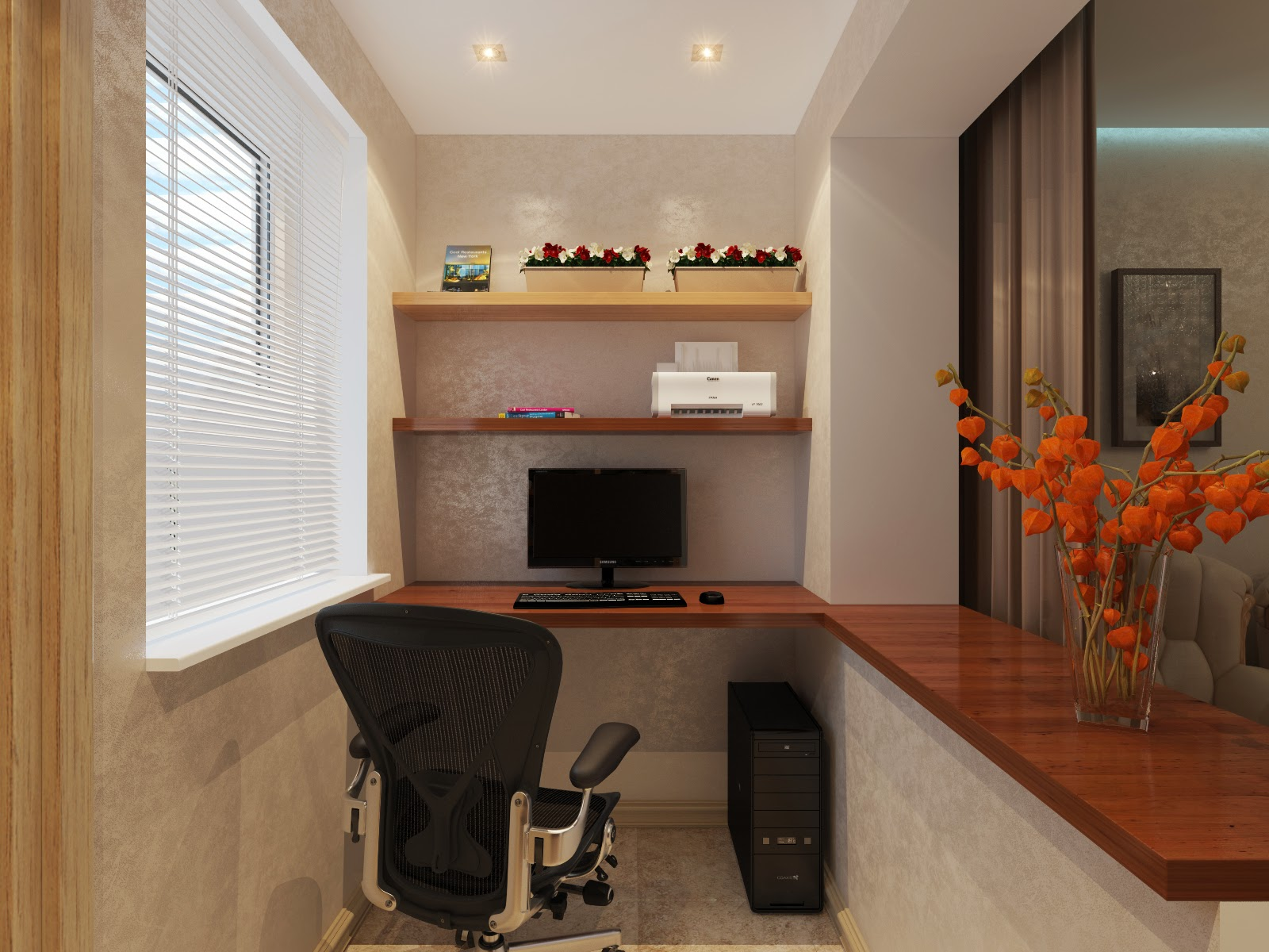 Дизайн маленького балкона совмещенного с комнатой