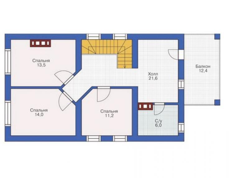 """План дома с мансардой фото """" современный дизайн."""
