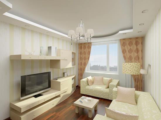 Дизайн гостиной малогабаритных квартир
