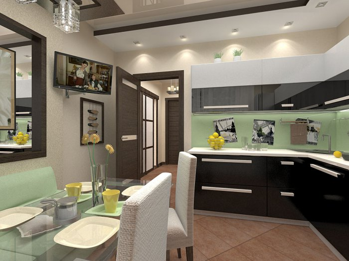 Дизайн кухни в копэ