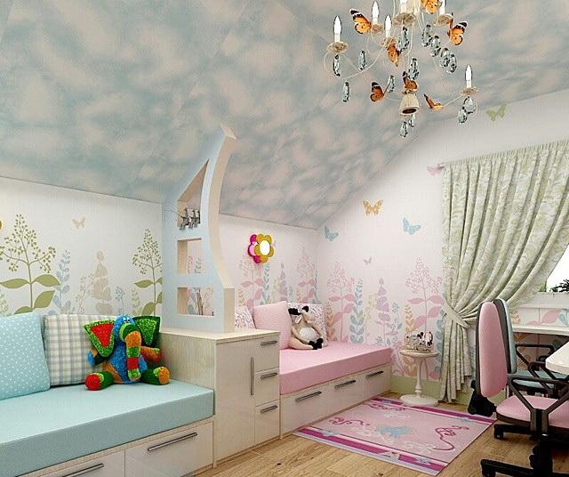 Дизайн детской для двух детей 12 кв м