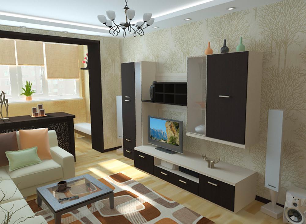 """Дизайн гостиной комнаты 17 кв.м """" современный дизайн."""
