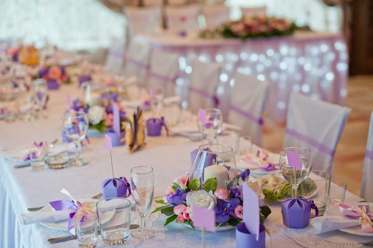 Украшения на столы на свадьбу своими руками