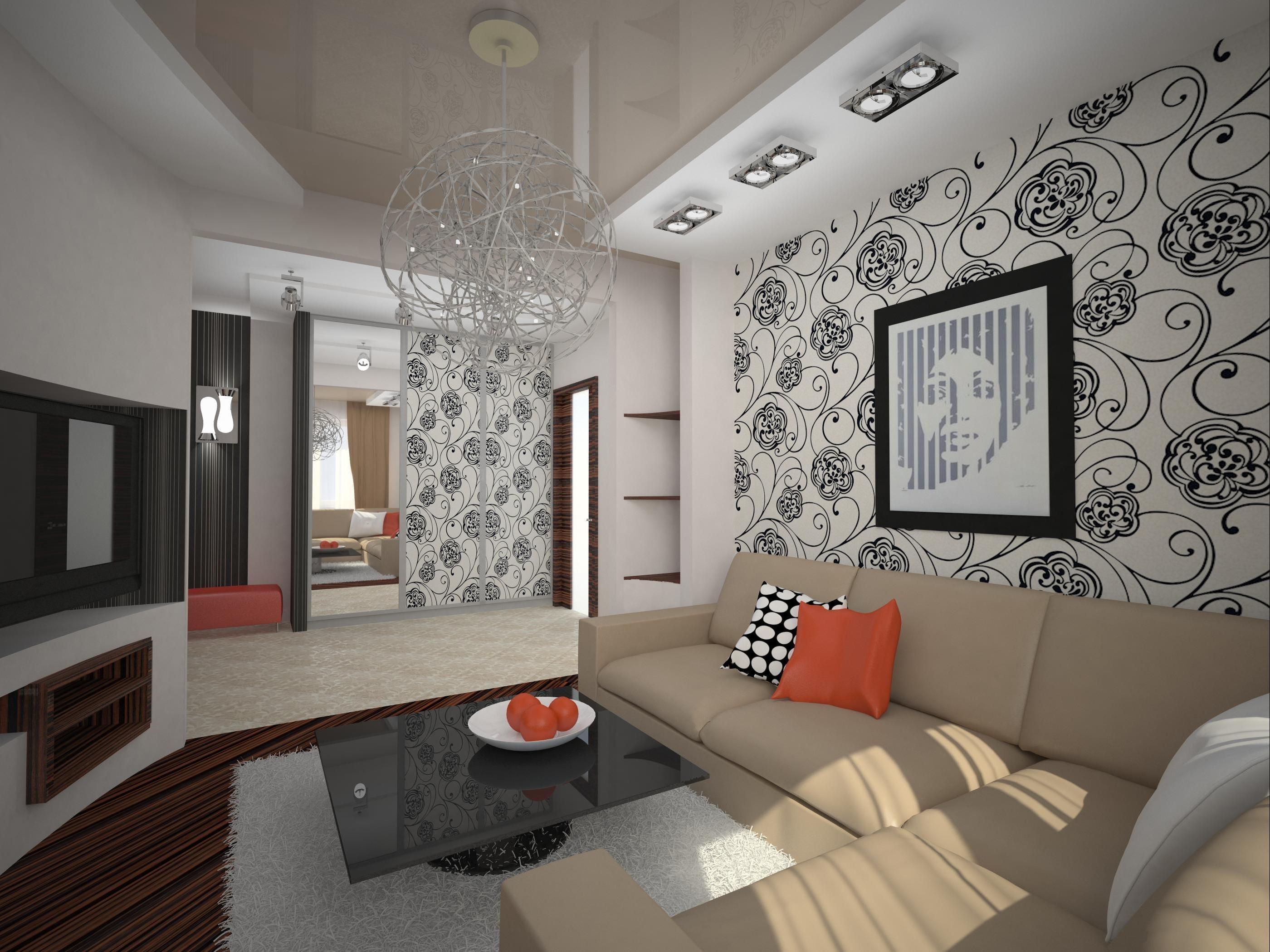 Дизайна зала в хрущевке