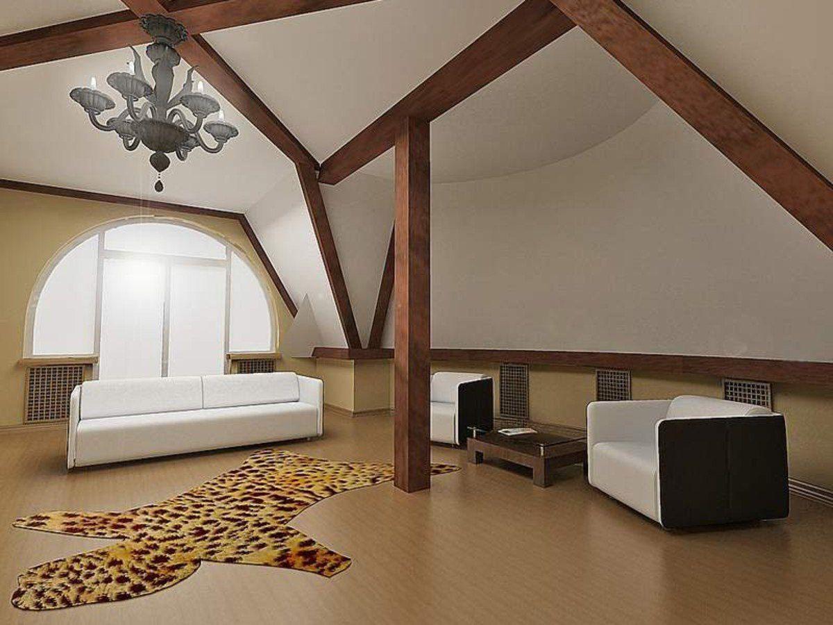 Фото дизайна мансардных домов