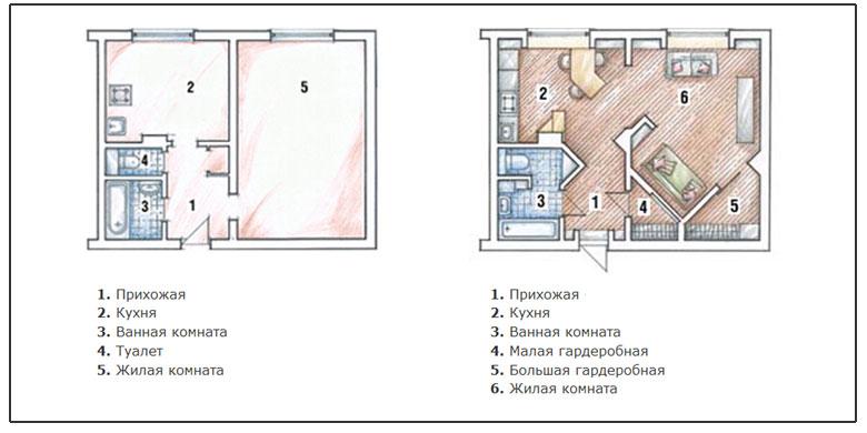"""Дизайн типовой 1 комнатной квартиры """" современный дизайн."""