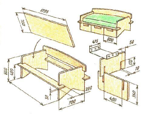 Детская мебель своими руками фото чертежи