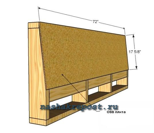 Схема дивана на балкон своими руками