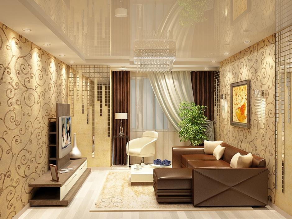 Дизайн комнаты в бежевом цвете